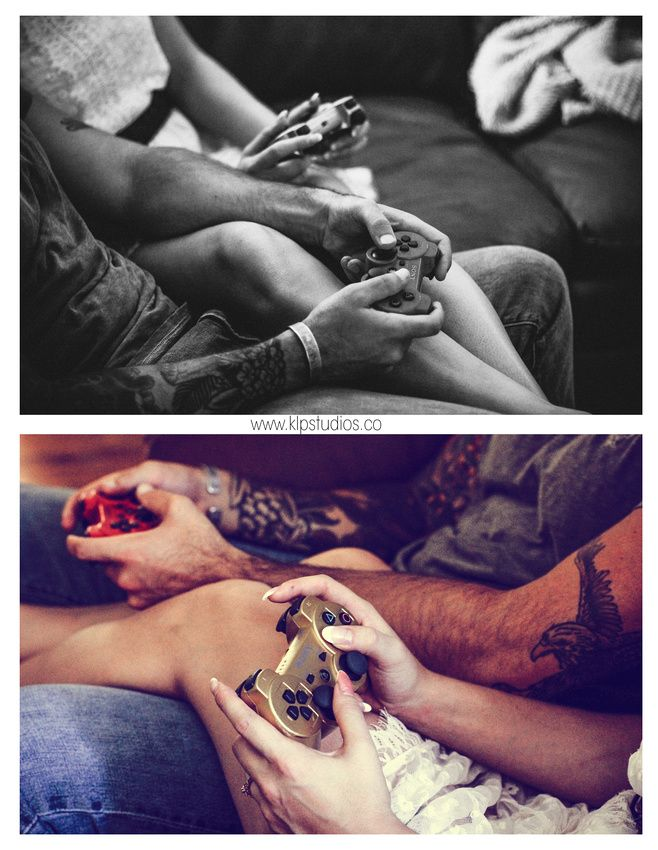 """The """"anti"""" engagement session: a guy friendly e-shoot in Savannah, GA including everything from German Shephards, skateboards, guns, video games, bars, yard work, tattoos, and bromance 