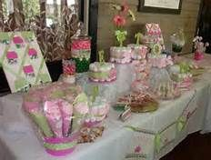 green and pink baby shower decorations - Bing Images