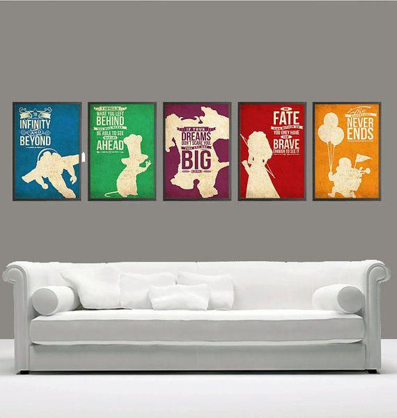 Posteres Disney-Pixar: ideia para decorar o meu quarto