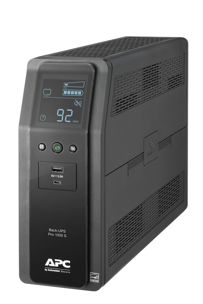 Apc 1000va Back Ups Pro Sinewave Ups Battery Backup Surge Protector Br1000ms Apc Battery Backup