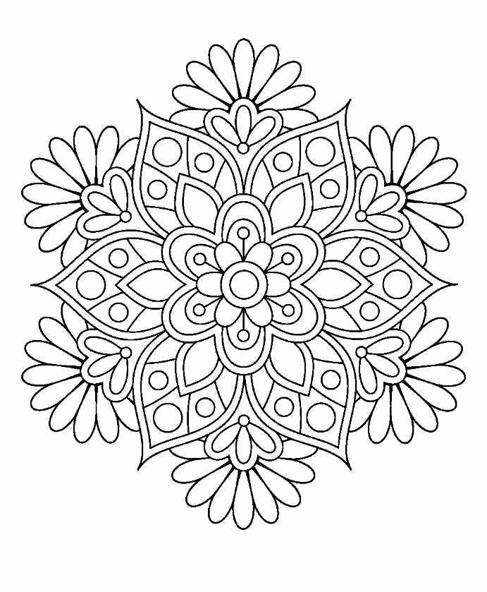 Simple Flower Mandala Coloring Pages Pics