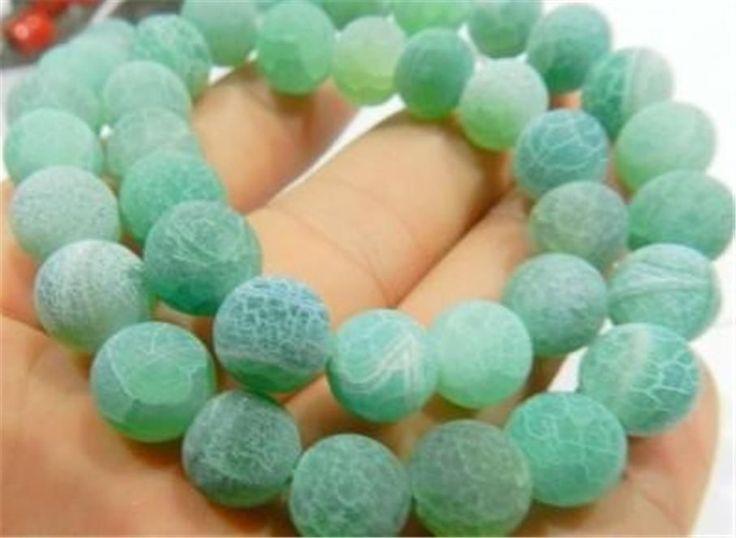 "6mm Green Dream Fire Dragon Veins Agate Loose Beads 15"""