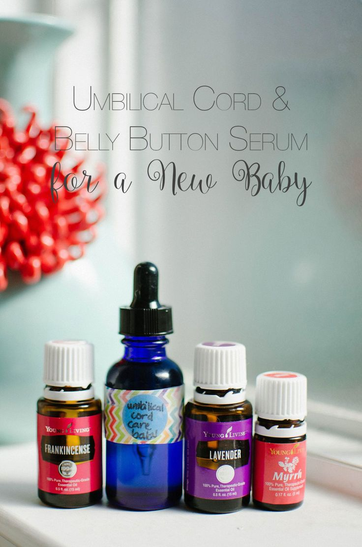 DIY Umbilical Cord Care Serum with Essential Oils for a Newborn Baby (2)