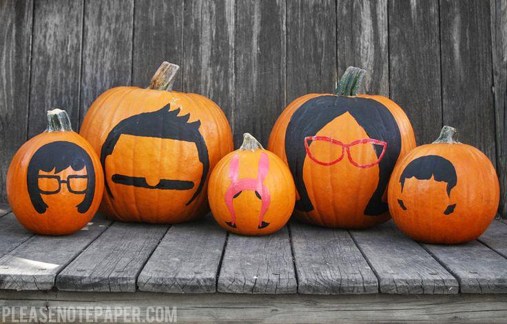 bobs burgers | pumpkin | painting pumpkins | tina | bob | louise | linda | gene | belcher | via please note