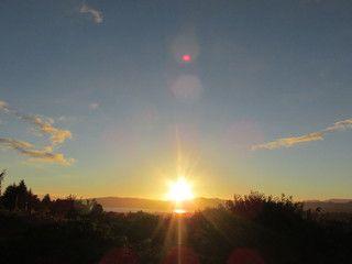 Autumn equinox sunrise  秋分の夜明け