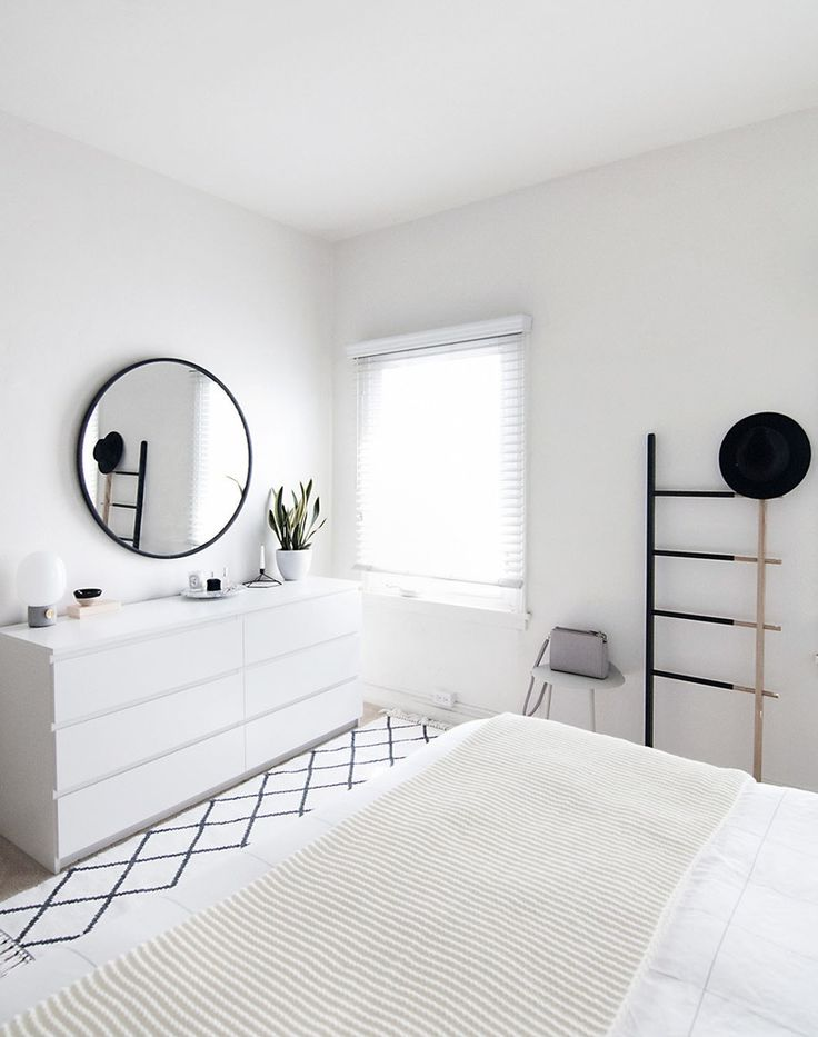 Make your small space feel bigger with an all white room.