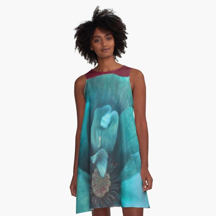 Bold Poppy A-Line Dress Front