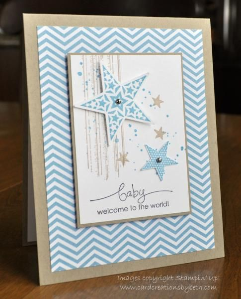 BAby CArd - gorgeous grunge, simply stars