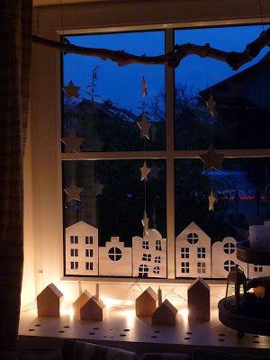 Häuser im Fenster
