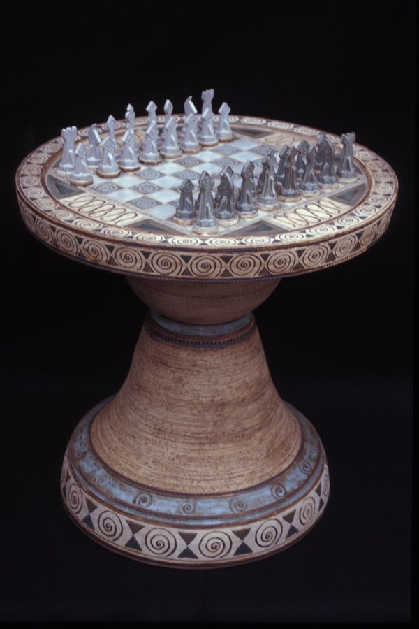 rob gentry pottery - chess game.