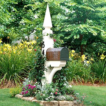 Mailbox Garden: Add big impact to a small 3-by-5-foot space with this long-blooming garden. It offers tough plants that stand up to the harsh growing conditions surrounding a street-side mailbox. The plants included here stay low, so they won't block the view while backing out of the driveway.