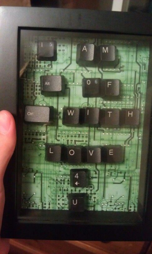 Present for the boyfriend! Mine is such a computer geek & would absolutely adore this :)
