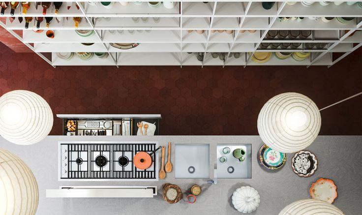 Modello Logica Soho di Alf Da Frè #cucina #legno #contemporanea #arredamento #madeinitaly
