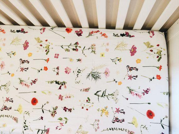 baby crib sheet // WILDFLOWERS  BUY THIS ONE