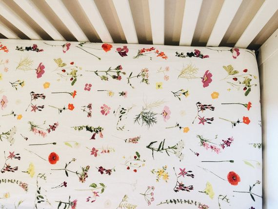 baby crib sheet // WILDFLOWERS  BUY THIS ONE