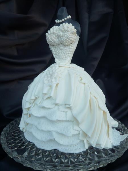 Торт платье невесты