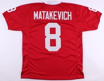 Tyler-Matakevich-Temple-U-Owls-On-Field-Style-Custom-Stitched-Jersey-Size-XL