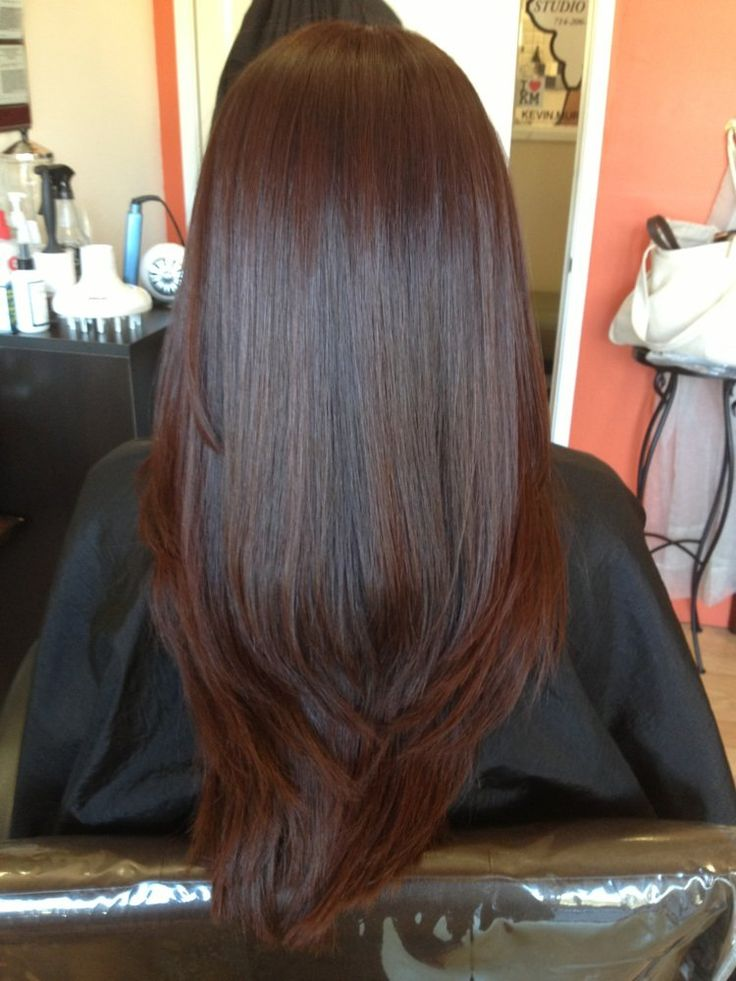 Hair after color , glaze, hair cut and Brazilian Blowout | Yelp