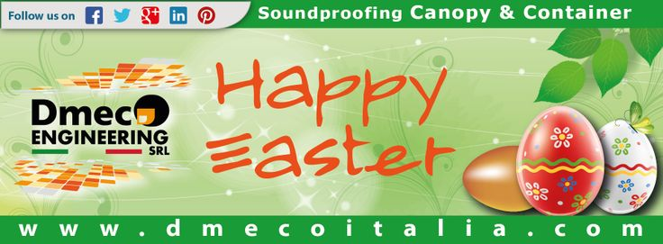 Best wishes for Easter from the staff of #Dmeco Engineering! //  www.dmecoitalia.com  #dmecoengineering  #canopy  #container  #happyeaster  #soundproofing
