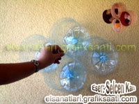 Geri dönüşüm Projelerim: Pet Şişeden Duvar Süsü  Recycling Projects: PET Bottle Wall Decoration