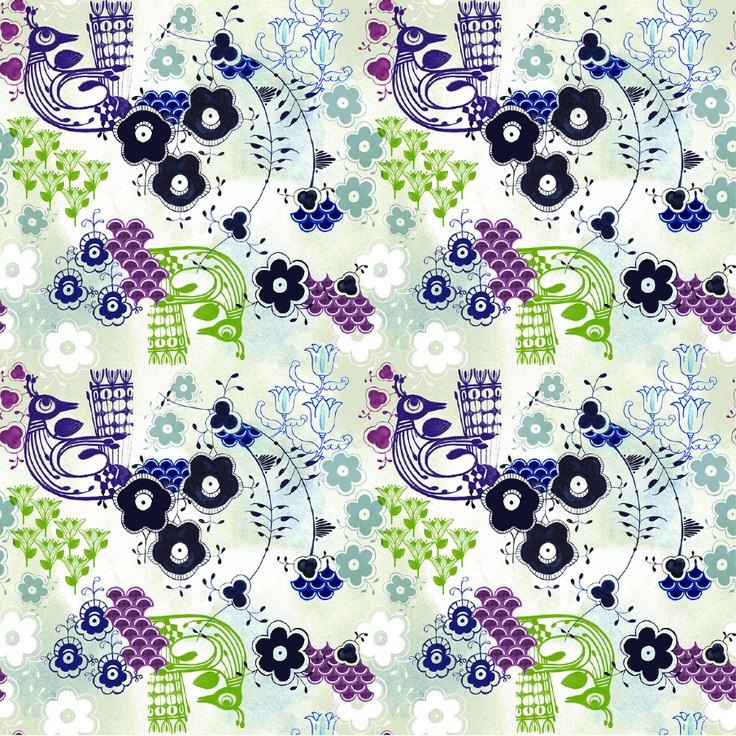 www.julianaveiga.com #illustration #scandinavian #textiles #textiledesign #drawing #porcelain #julianaveiga #textileprint