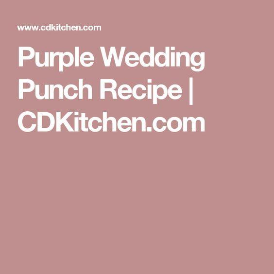 Purple Wedding Punch Recipe | CDKitchen.com