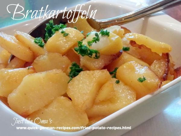 Bratkartoffeln ... German Fried Potatoes .. so traditionally delicious! Check out http://www.quick-german-recipes.com/fried-potato-recipes.html