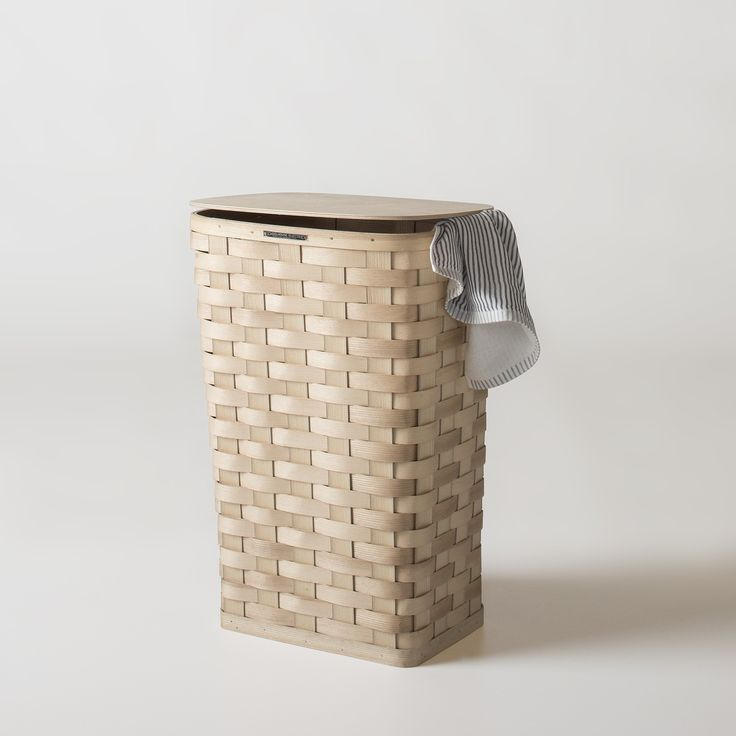Tall Laundry Hamper With Lid From Schoolhouse Electric