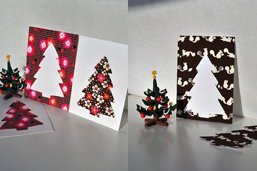 bambiblauw blogt ook...: Kerstkaartjes uit stofrestjes
