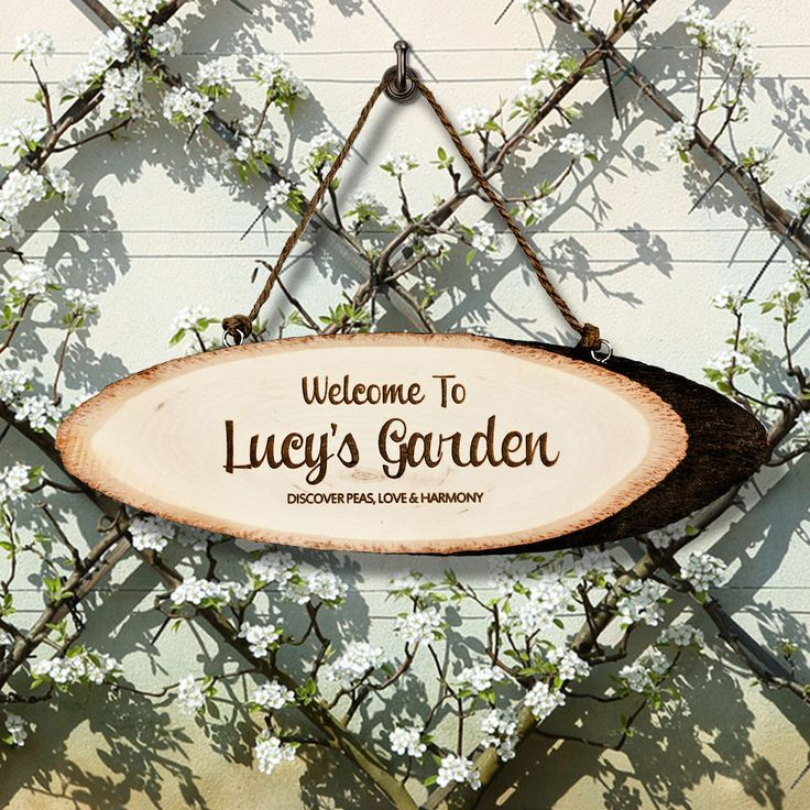 Welcome To My Garden Wooden Sign - Retirement Gift - Garden accessories by KiddiClub on Etsy