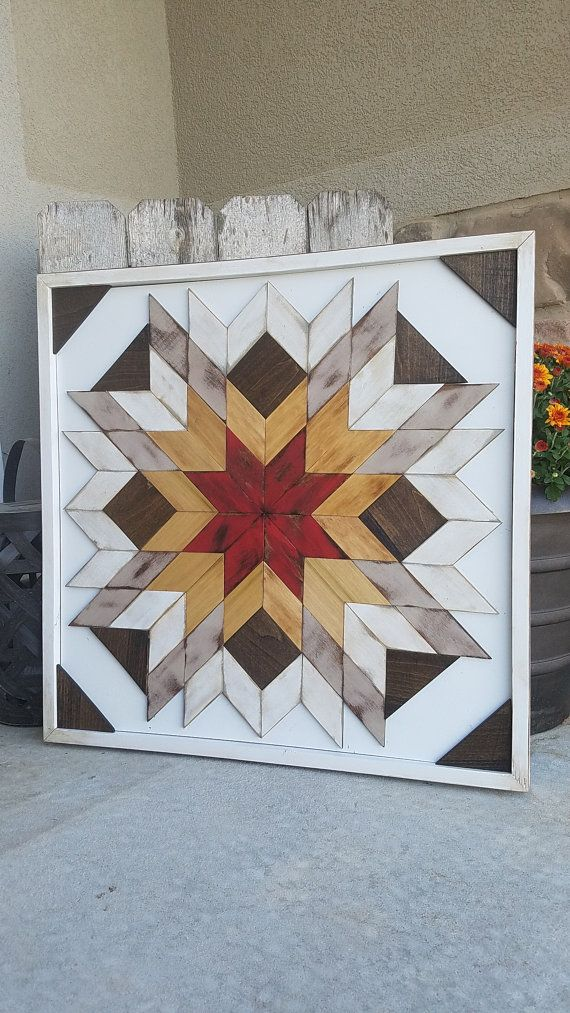 PATCHWORK WOOD DECORATIVE WALL ART SIZE: 2×2' This was such a fun Piece