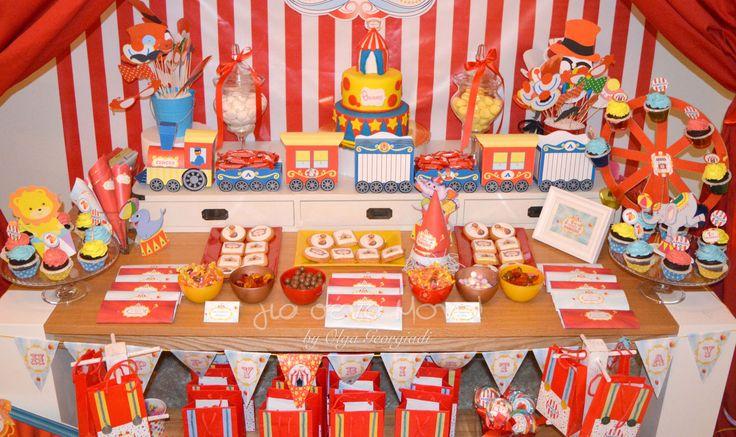 Circus Birthday Party  Circus Birthday Party! Ένα Party γενεθλίων με θέμα το Τσίρκο για τον Θανάση που έκλεισε τον πρώτο χρόνο ζωής του! #birthday #birthdayparty #party #celebration #boy #Circus #First_birthday #decoration #child #Red #blue