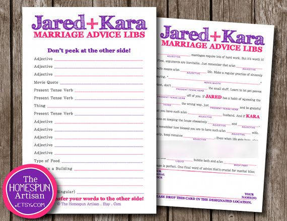 Wedding Mad LIBS Guest Book  Marriage Advice by TheHomespunArtisan, $19.95