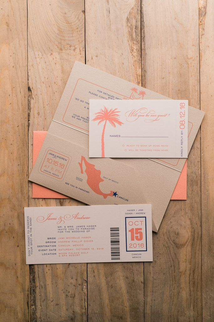 destination wedding invitation rsvp date%0A TRAVEL COLLECTION    PORTABLE POCKET Styled Invitation