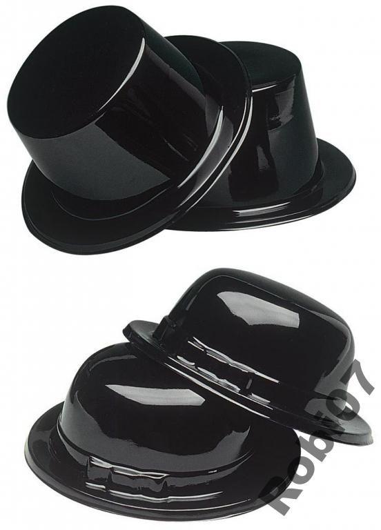 MELONIK czarny CYLINDER kapelusz W. Panieński