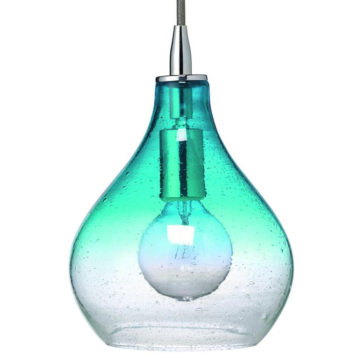 Jamie Young Lighting Pendant Curved Aqua Gradiated Glass Small - Contemporary - Pendant Lighting - by Layla Grayce  sc 1 st  Pinterest & 105 best Sea glass lighting images on Pinterest   Architecture ... azcodes.com