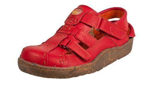 TMA Schuhe 3997 Sandalette Ballerina Gr.36-42 echt Leder mit perforiertem Lederfußbett in Rot atmungsaktiv und gedämpfter Sohle Gr. 36 - http://on-line-kaufen.de/tma/36-eu-tma-schuhe-3997-sandalette-ballerina-gr-36-42