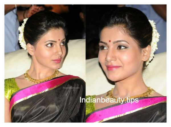 samantha_hairstyles_with_sarees