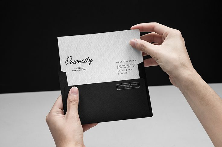 We Love Invitations. Downcity Outfitters. Design by www.anagrama.com