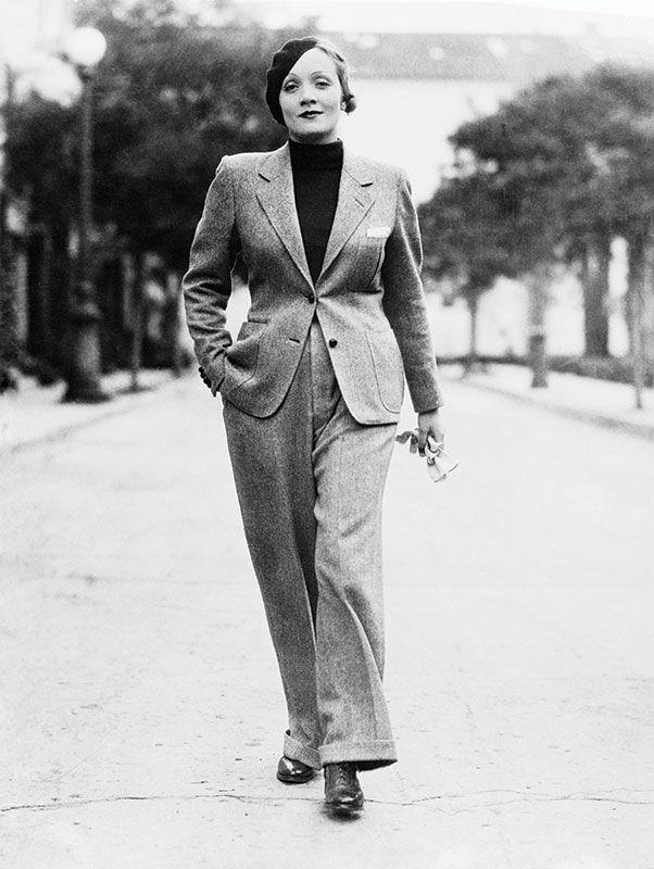 Marlene Dietrich, en 1933.  Photo: Bettman/Corbis                                                                                                                                                                                 Plus