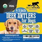 Bullysticks Organic Deer Antler 4-5 inch 1 pound-Elk Antlers Dog Chews-Health...
