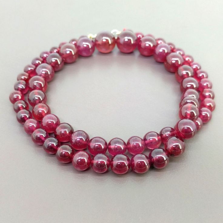 Ruby 6-12mm Smooth Round Shape Bead Strands - GemsBiz