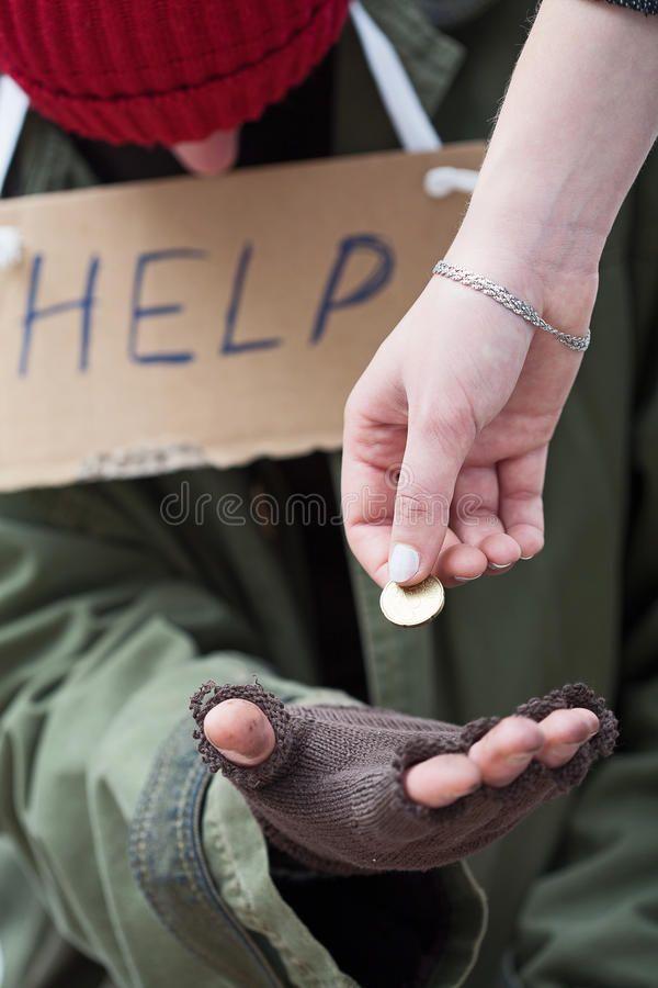 Woman Giving A Coin To Homeless Man Rich Women Giving A Coin To Homeless Men In Sponsored Coin Homeless Woman Rich Women Homeless Man Rings For Men
