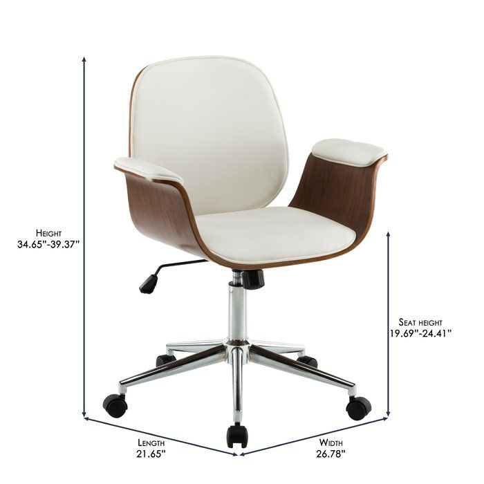 Bulma Solid Wood Office Chair Wood Office Chair Upholstered