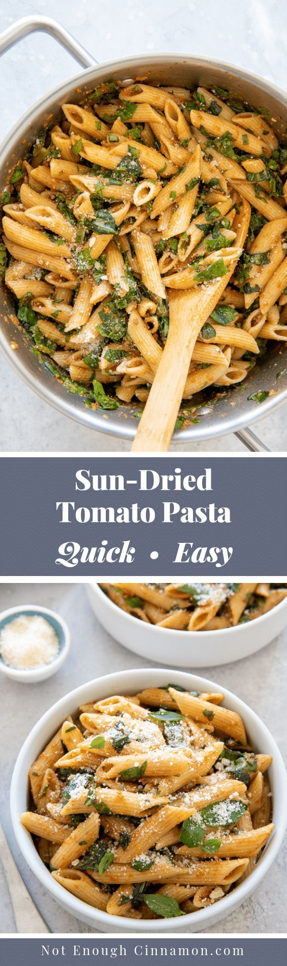 Easy Sun-Dried Tomato Pasta with Spinach