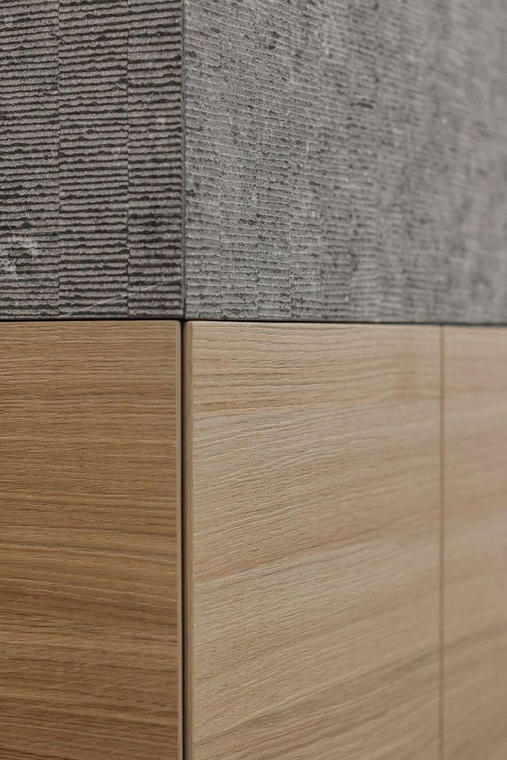 contekst interieurarchitecten / belgische blauwe hardsteen en hout
