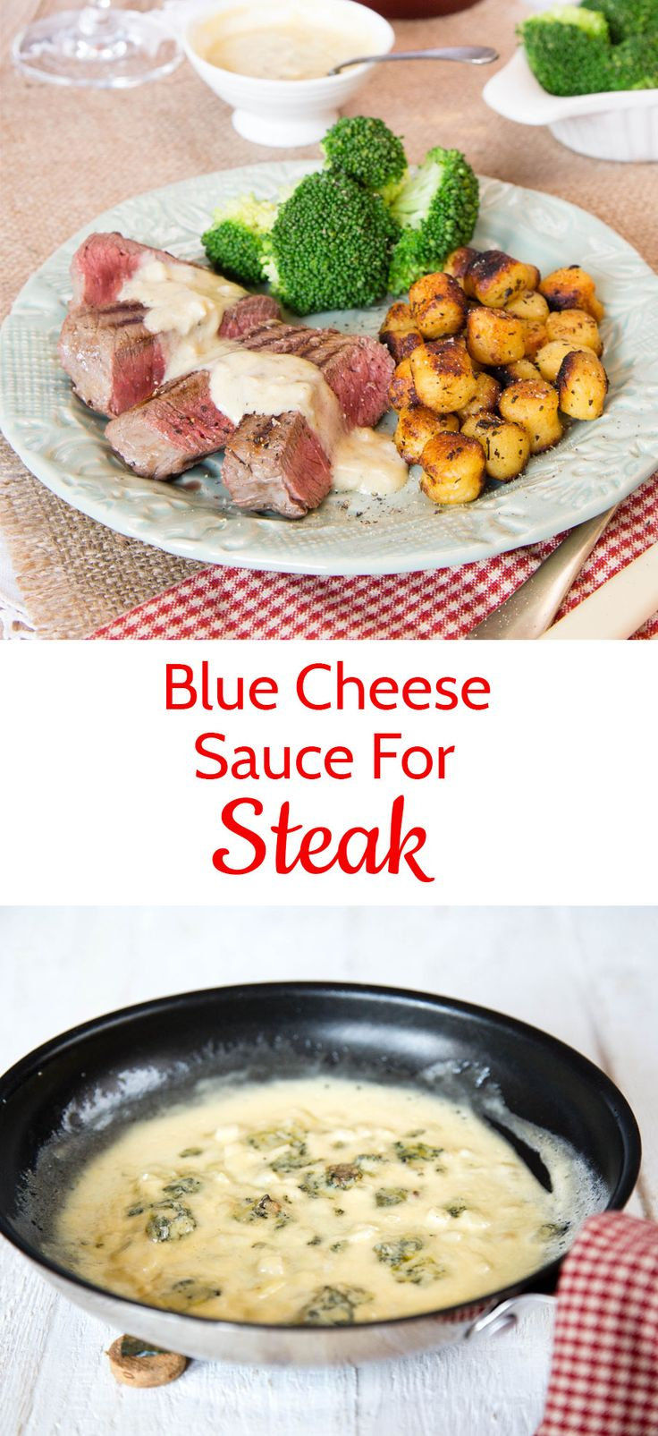 Adding a sauce to a steak turns it into a restaurant quality meal.  Try this Stilton blue cheese steak sauce next time you have steak.