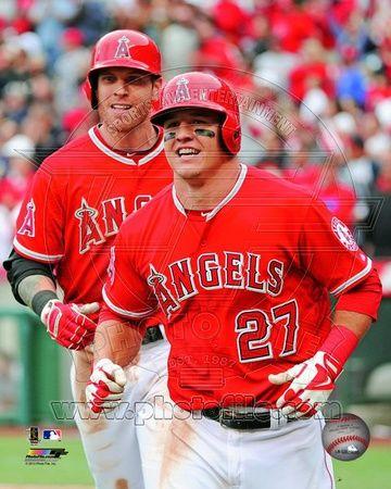 Los Angeles Angels - Josh Hamilton, Mike Trout Photo