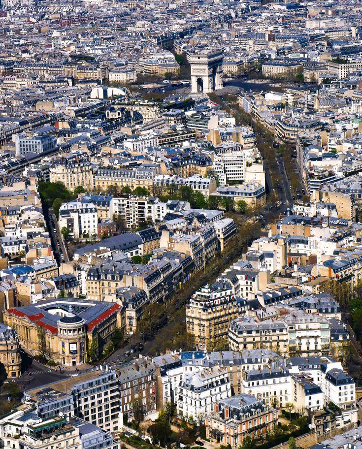 Vue depuis la Tour Eiffel, Paris Marie-Louise Jansson