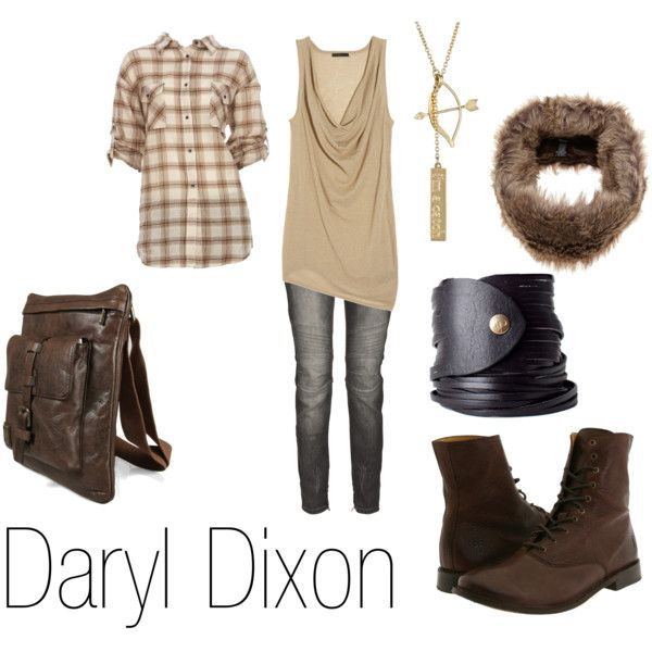 Daryl Dixon, created by ja-vy on Polyvore (I'm loving the utilitarian look right now...)